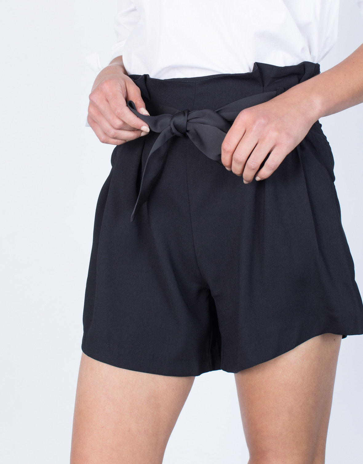 Detail of Chanel Waist Tied Shorts