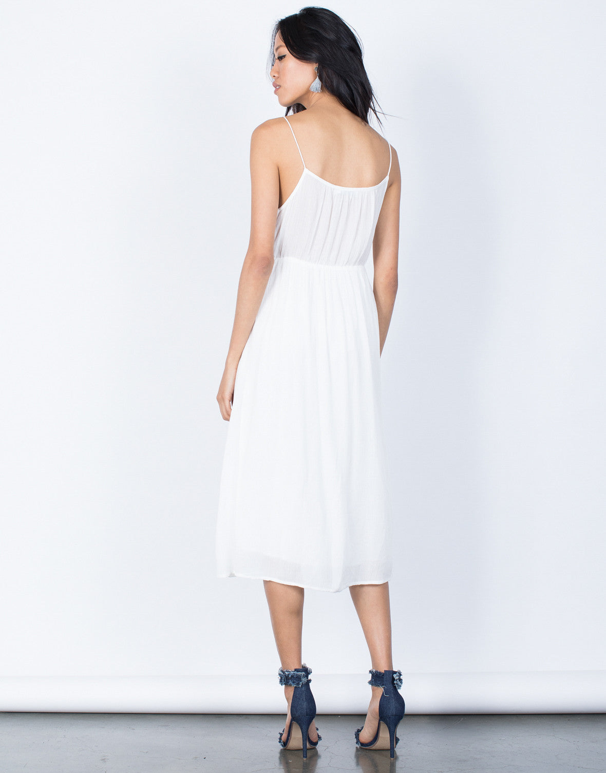 Back View of Charlotte Midi Dress