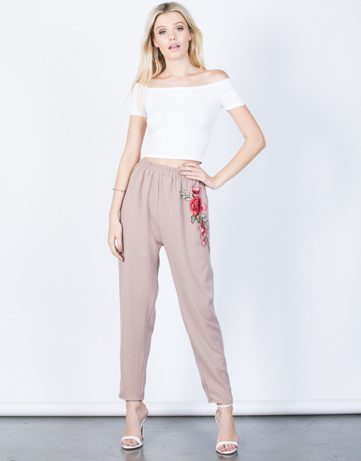 Front View of Charming Rose Pants