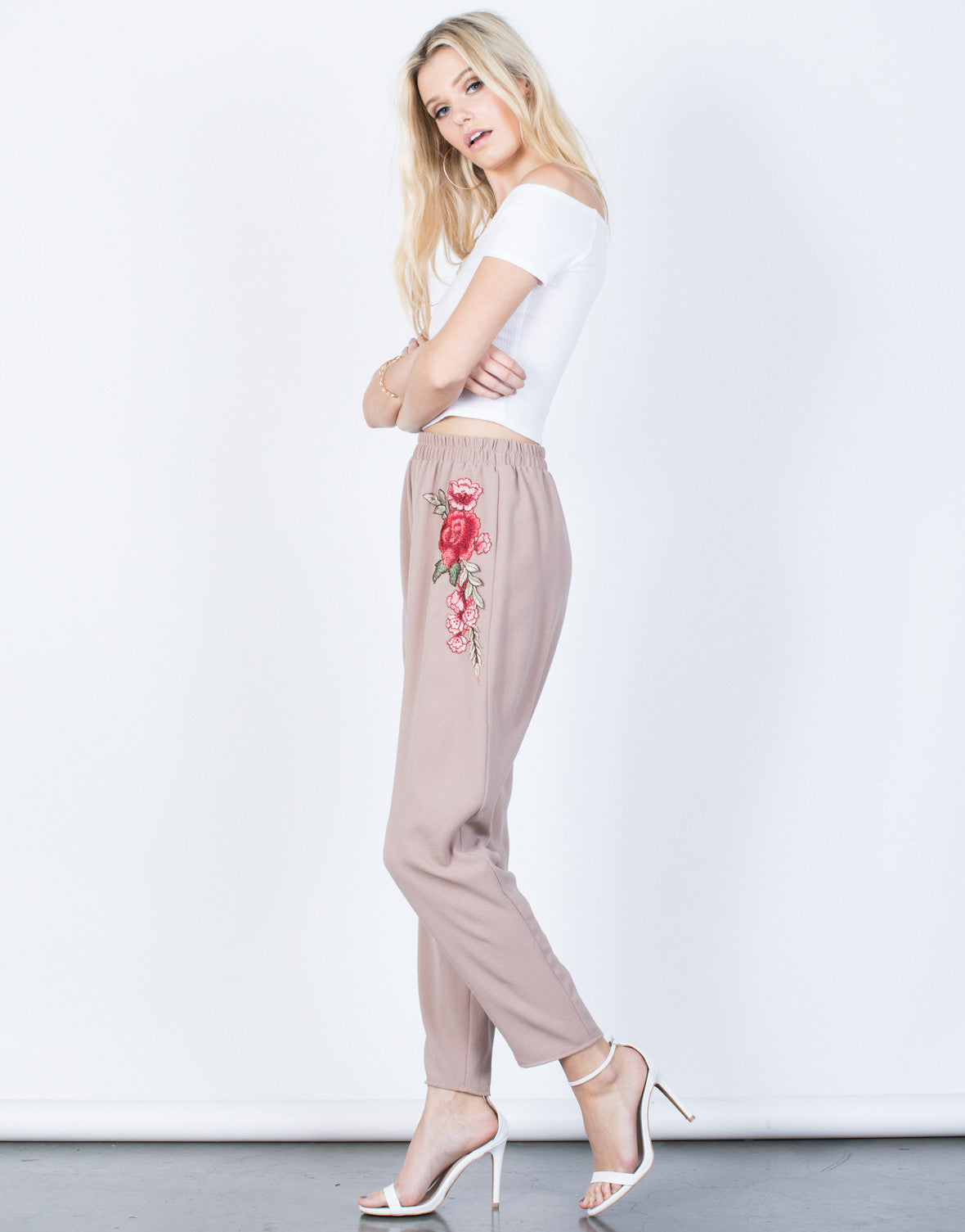 Side View of Charming Rose Pants
