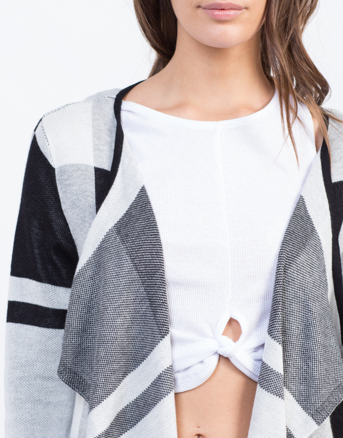 Detail of Checkmate Cardigan