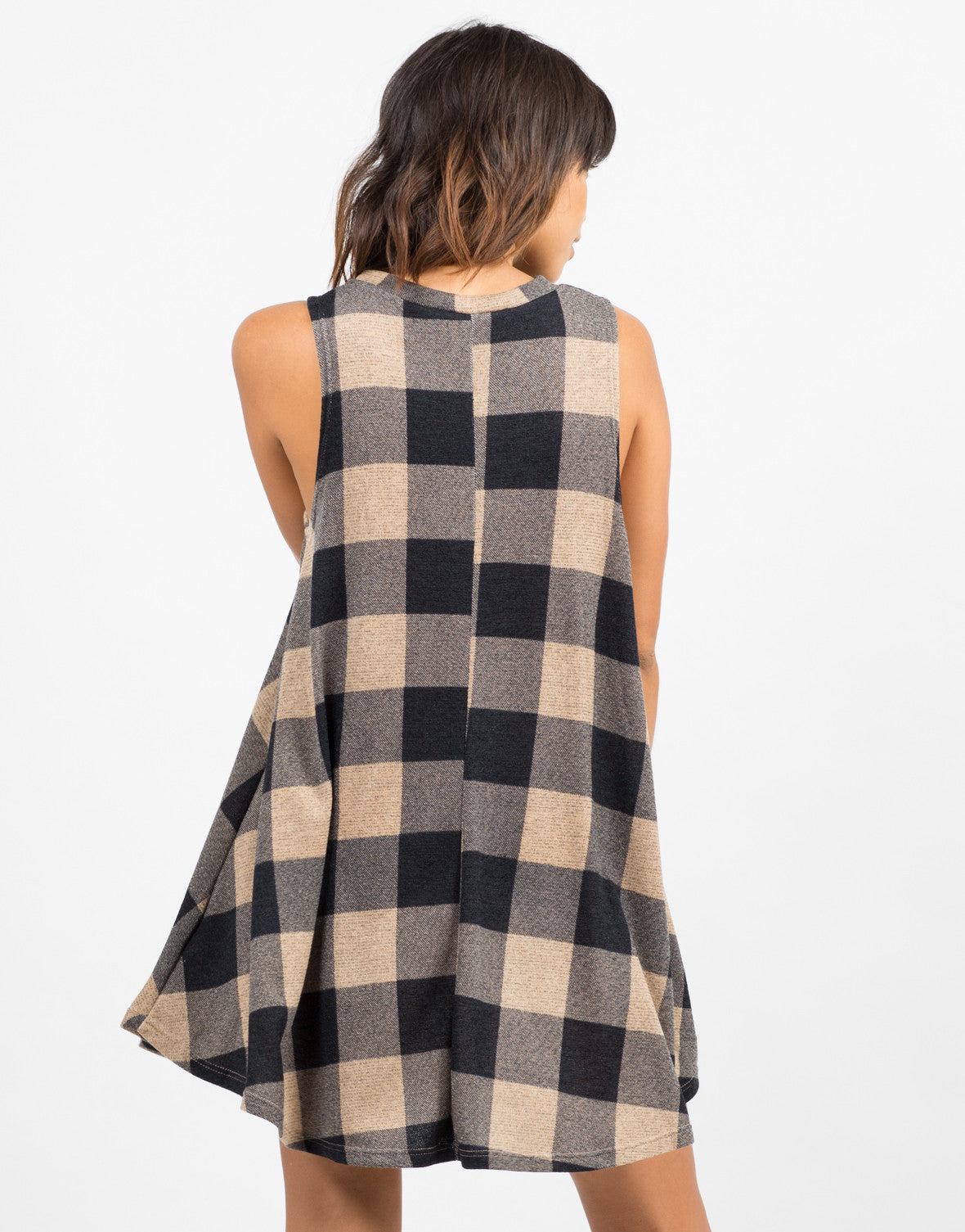 Checkmate Flared Dress