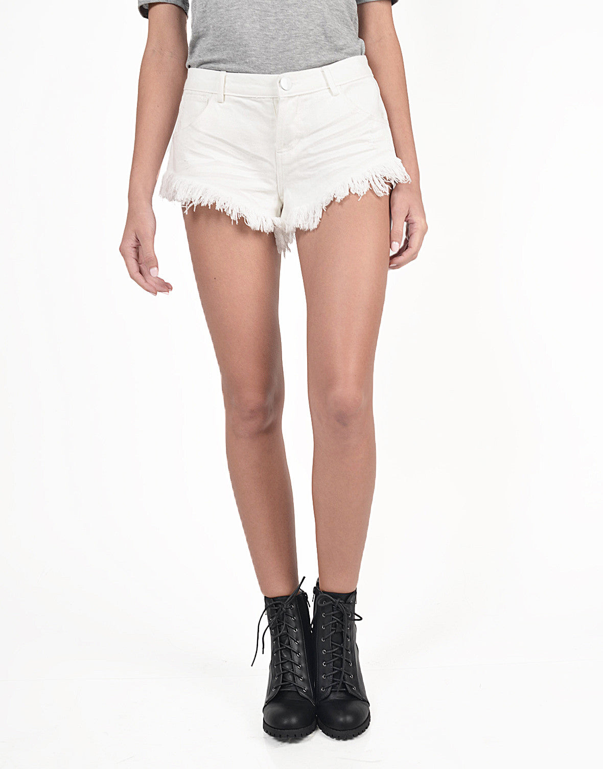 Cheeky Frayed Denim Shorts