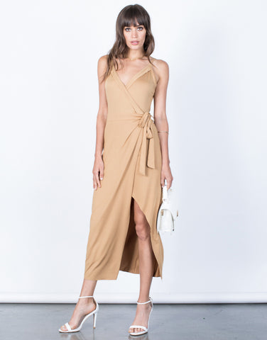 Front View of Chelsea Wrap Dress