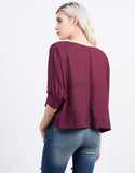 Back View of Chiffon Dolman Top