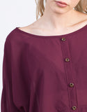 Detail of Chiffon Dolman Top