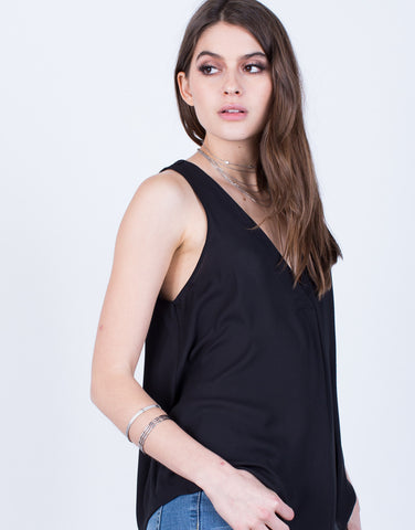 Detail of Chiffon V-Neck Tank