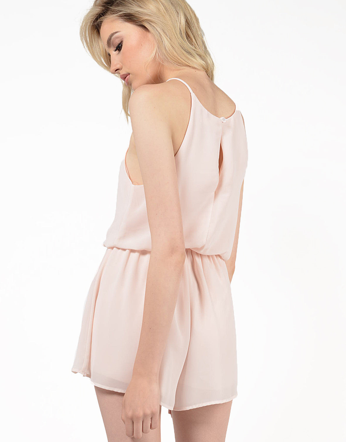 Detail of Chiffon High Neck Romper
