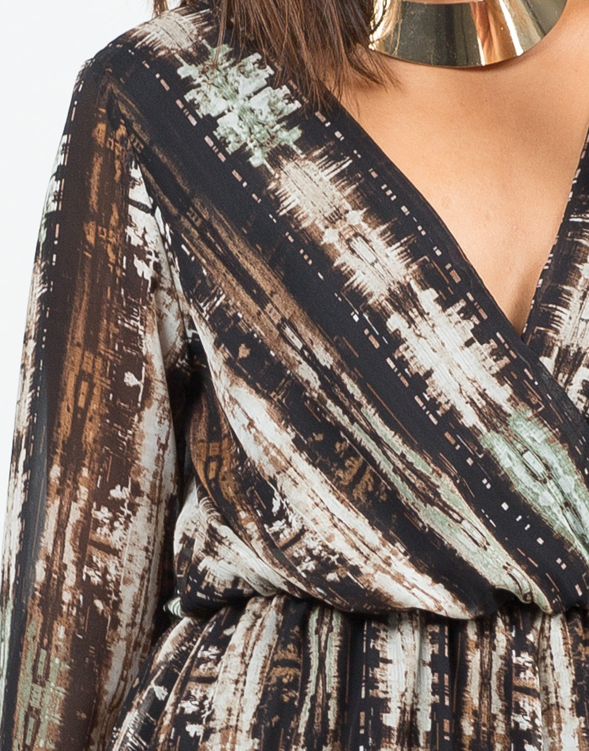 Detail of Chiffon Printed Romper