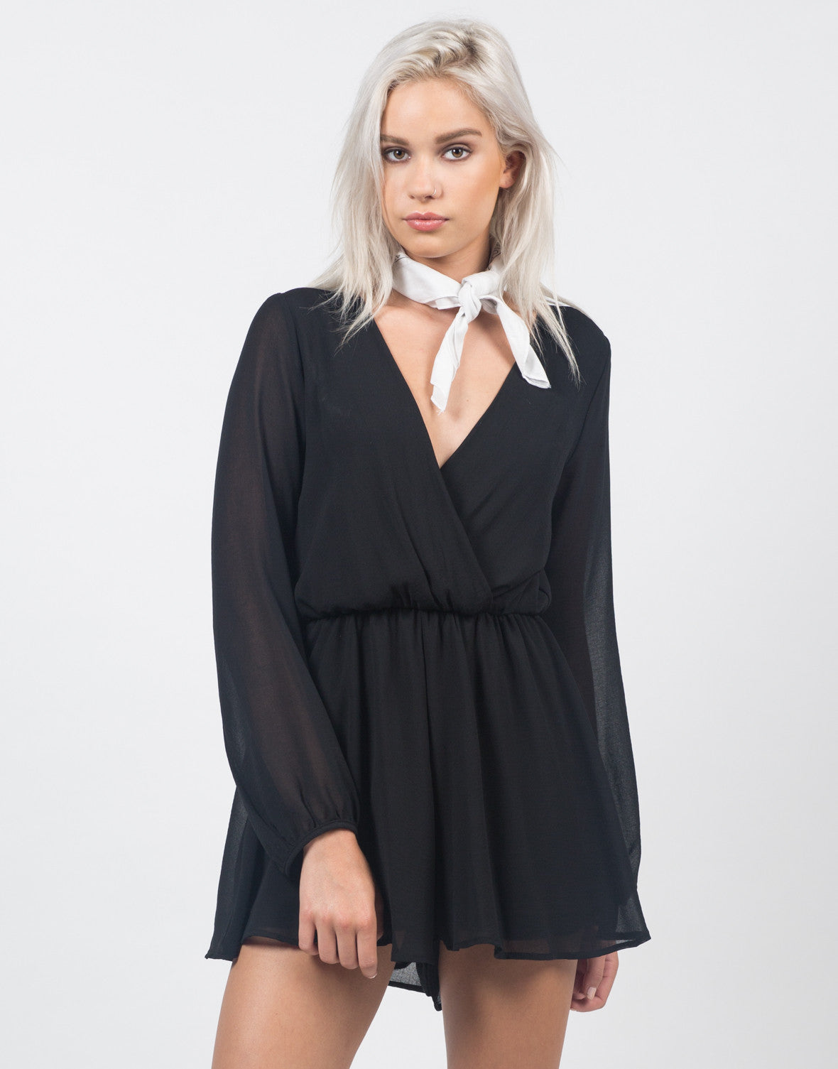 Front View of Chiffon Romper