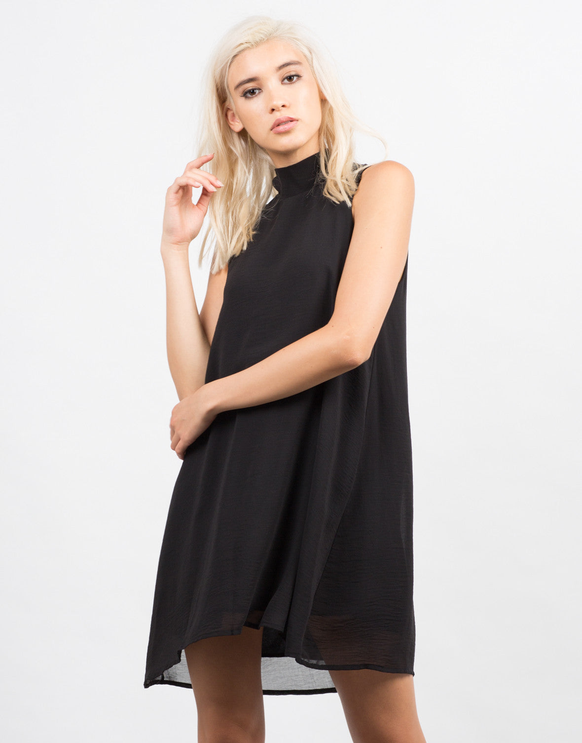 Front View of Chiffon Shift Dress