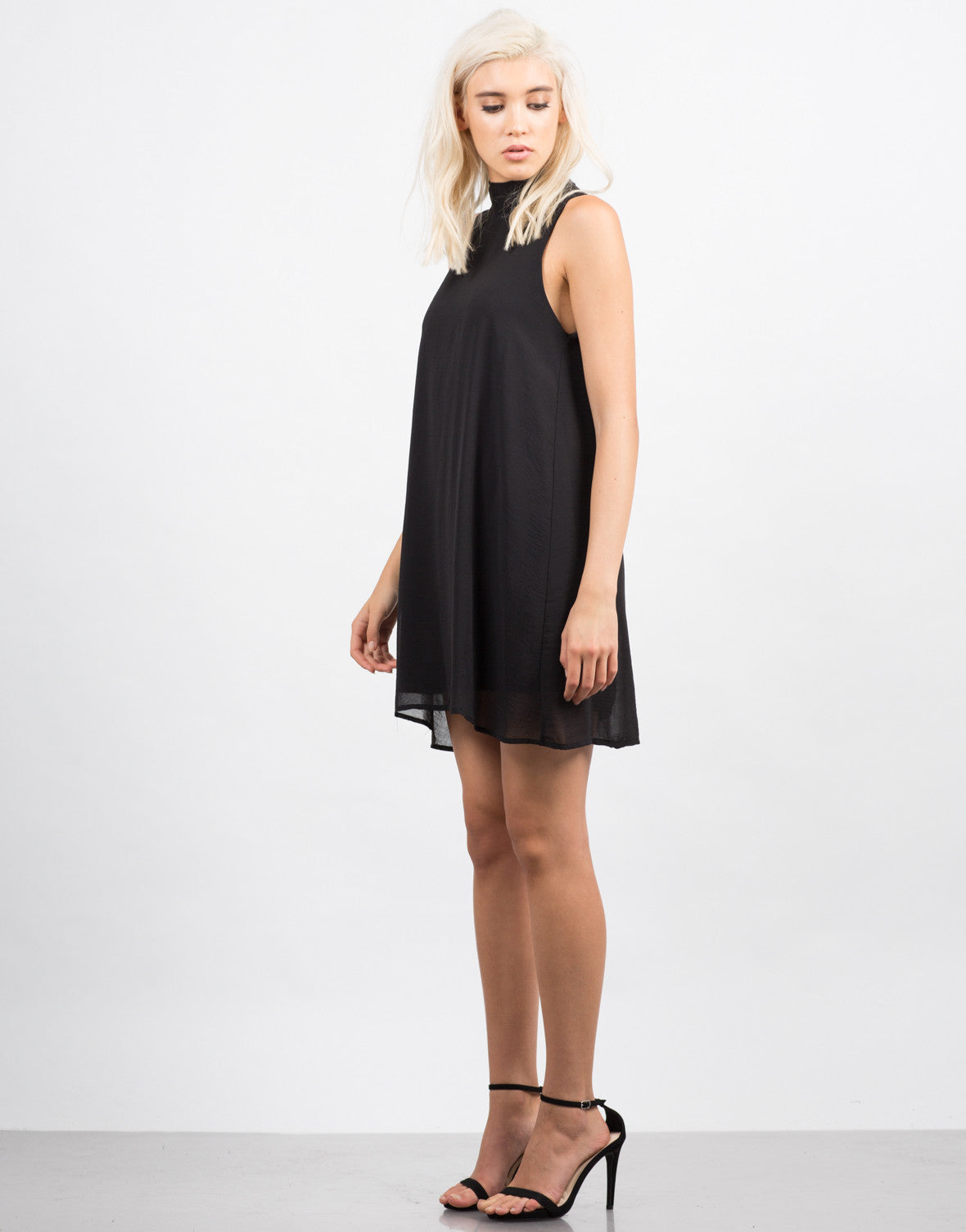 Side View of Chiffon Shift Dress