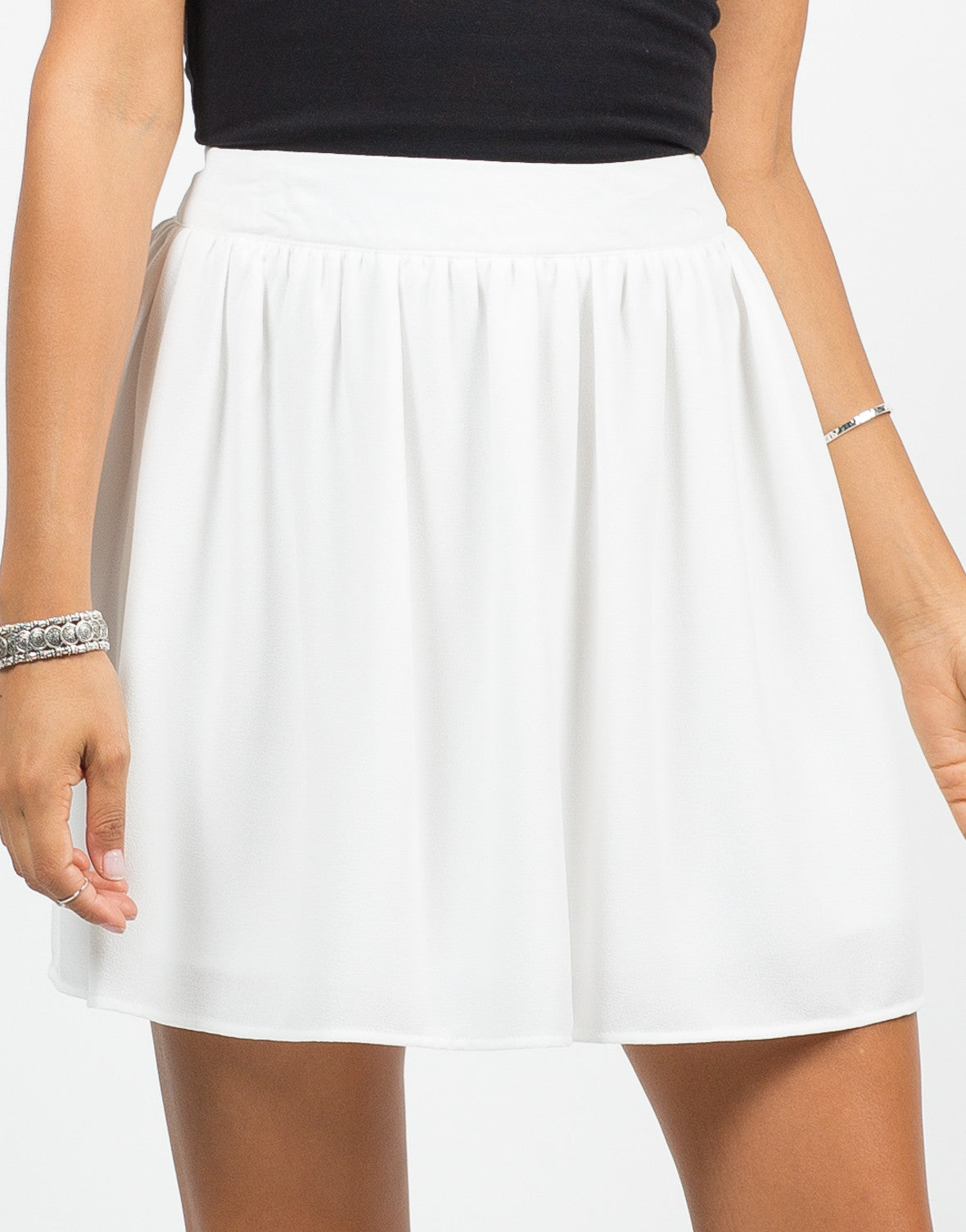 Detail of Chiffon Skater Skirt