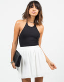 Front View of Chiffon Skater Skirt
