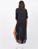 Back View of Chiffon Woven Dress