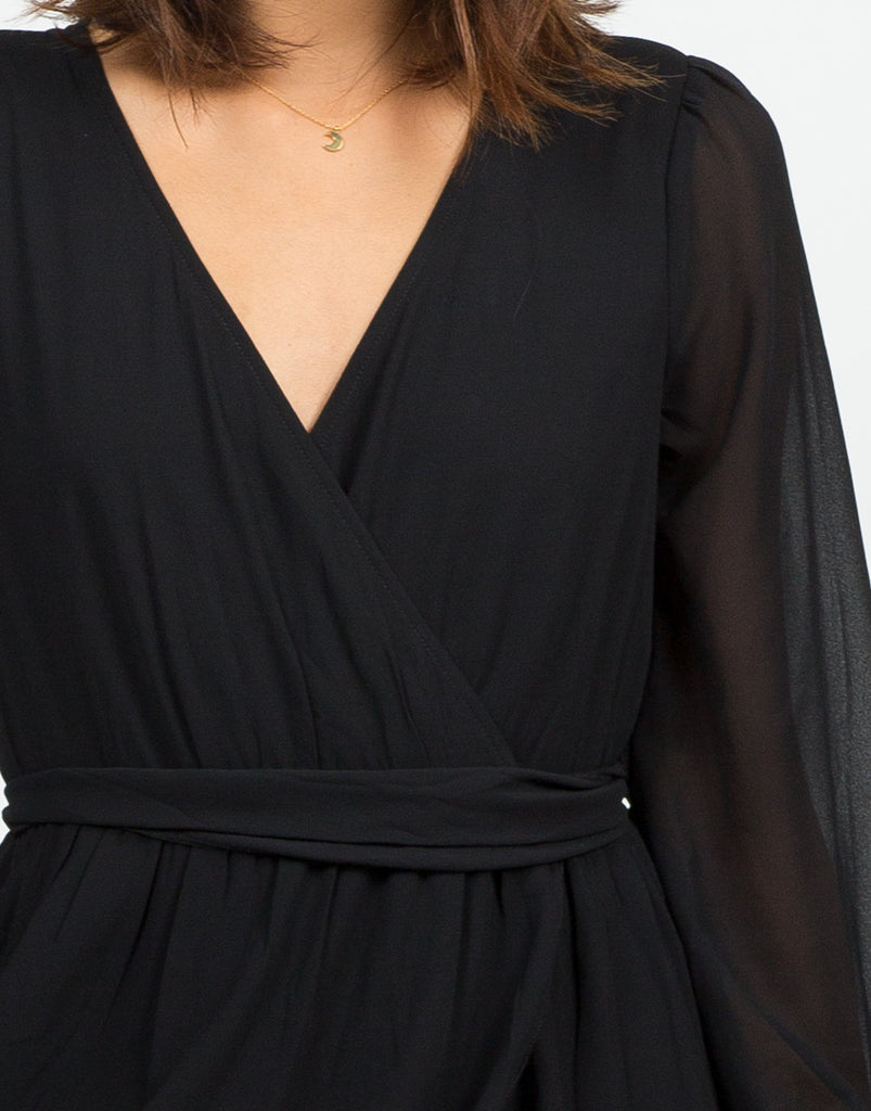 Detail of Chiffon Wrapped Dress