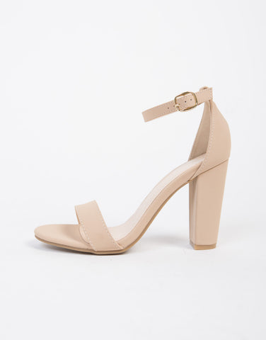 Chunky Ankle Strapped Sandals