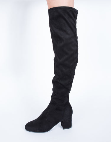 Chunky Knee High Boots