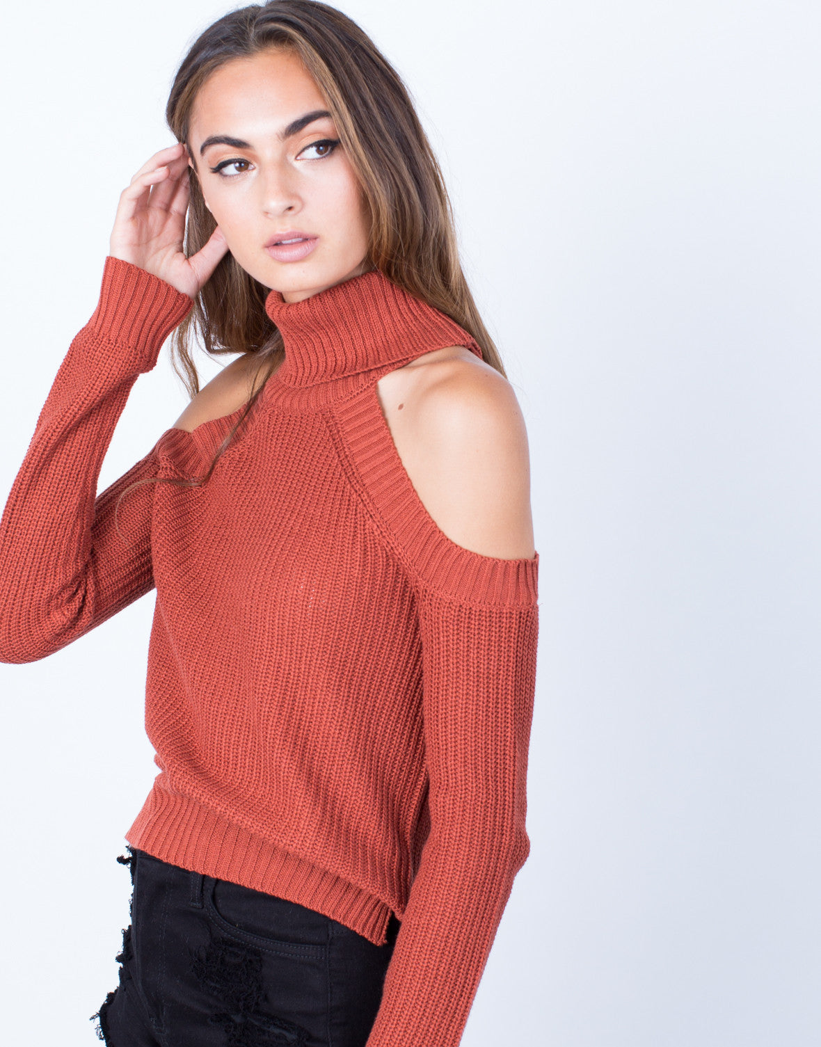 Detail of Chunky Knit Sweater Top