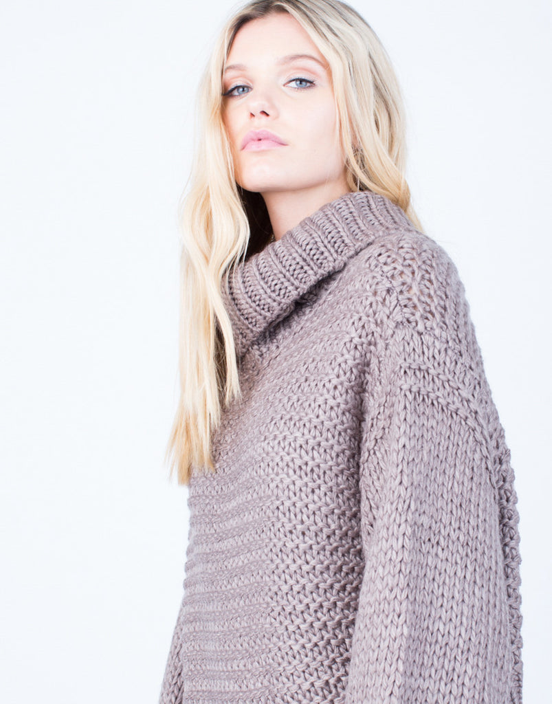 Detail of Chunky Knit Wool Sweater