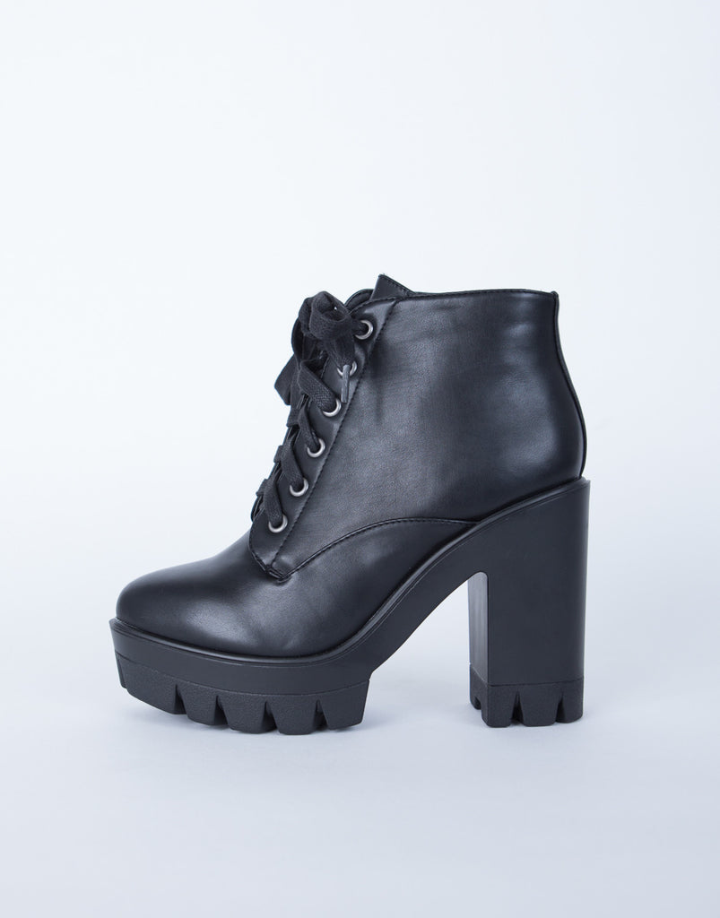 Chunky Lace-Up Boots
