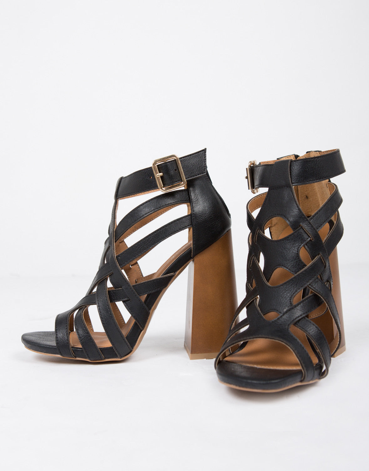 Chunky 70s Caged Sandals