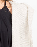 Detail of Chunky Hooded Cardigan