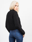 Back View of Chunky Long Sleeve Knit Sweater