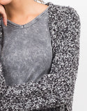 Detail of Chunky Marled Cardigan