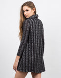 Back View of Chunky Marled Turtleneck Dress
