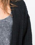 Detail of Chunky Oversized Knit Cardigan