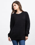 Front View of Chunky Oversized Sweater