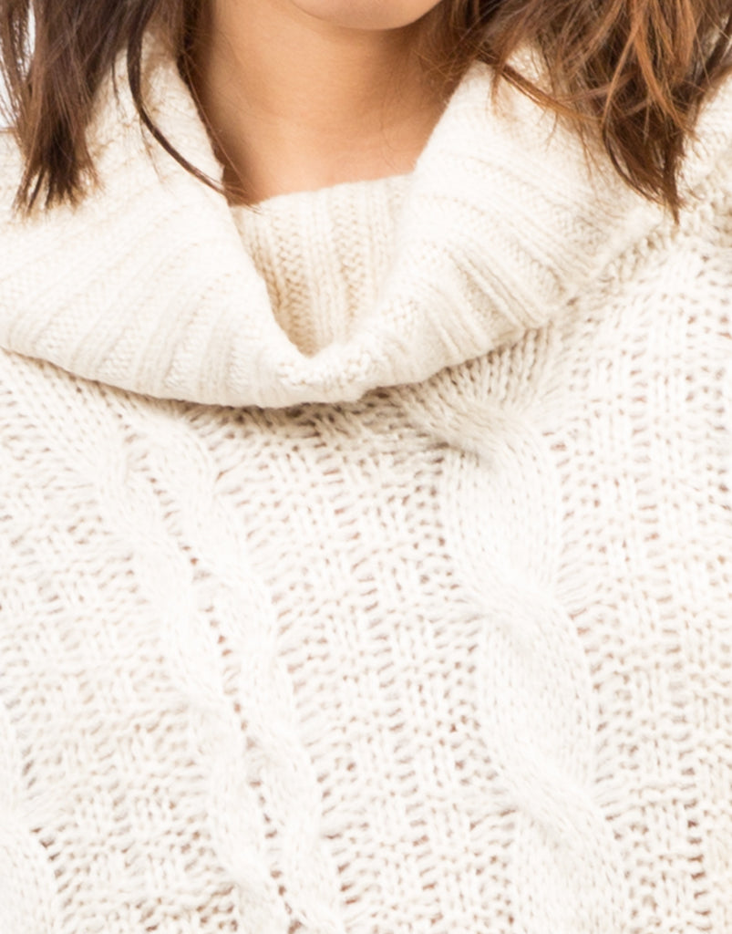 Detail of Chunky Turtleneck Sweater