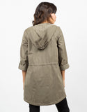Back View of Cinched Waist Parka