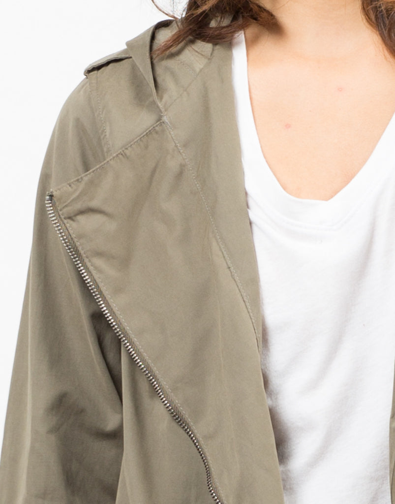 Detail of Cinched Waist Parka