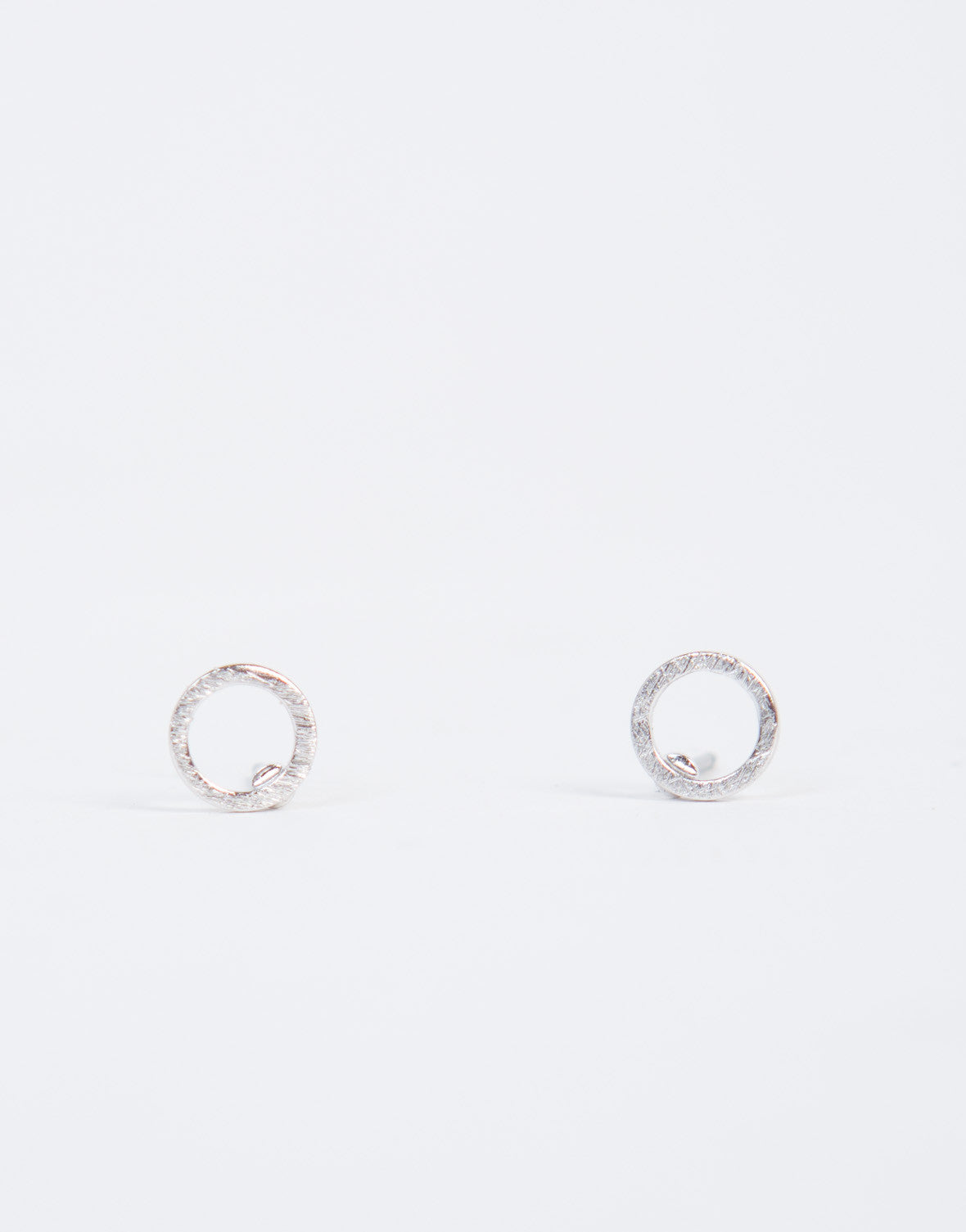 Circle Cut Out Stud Earrings