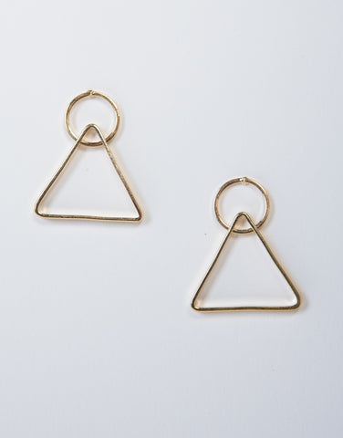 Circle Triangle Earrings