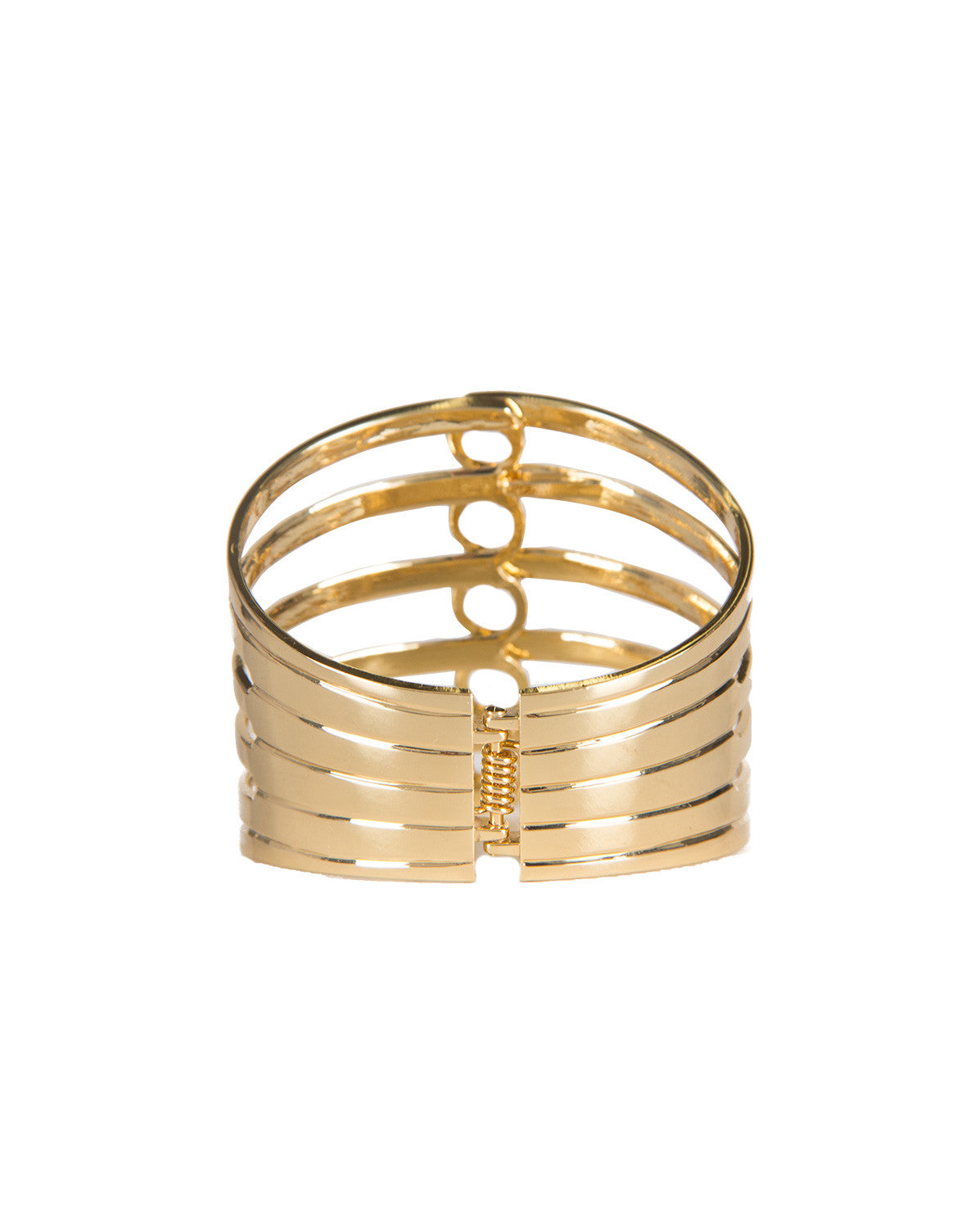 Circle Splash Gold Metal Cuff Bracelet