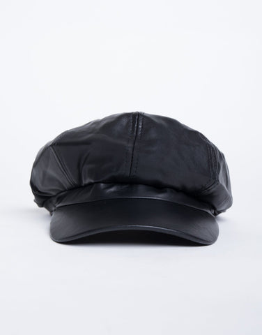 City Girl Leather Cap