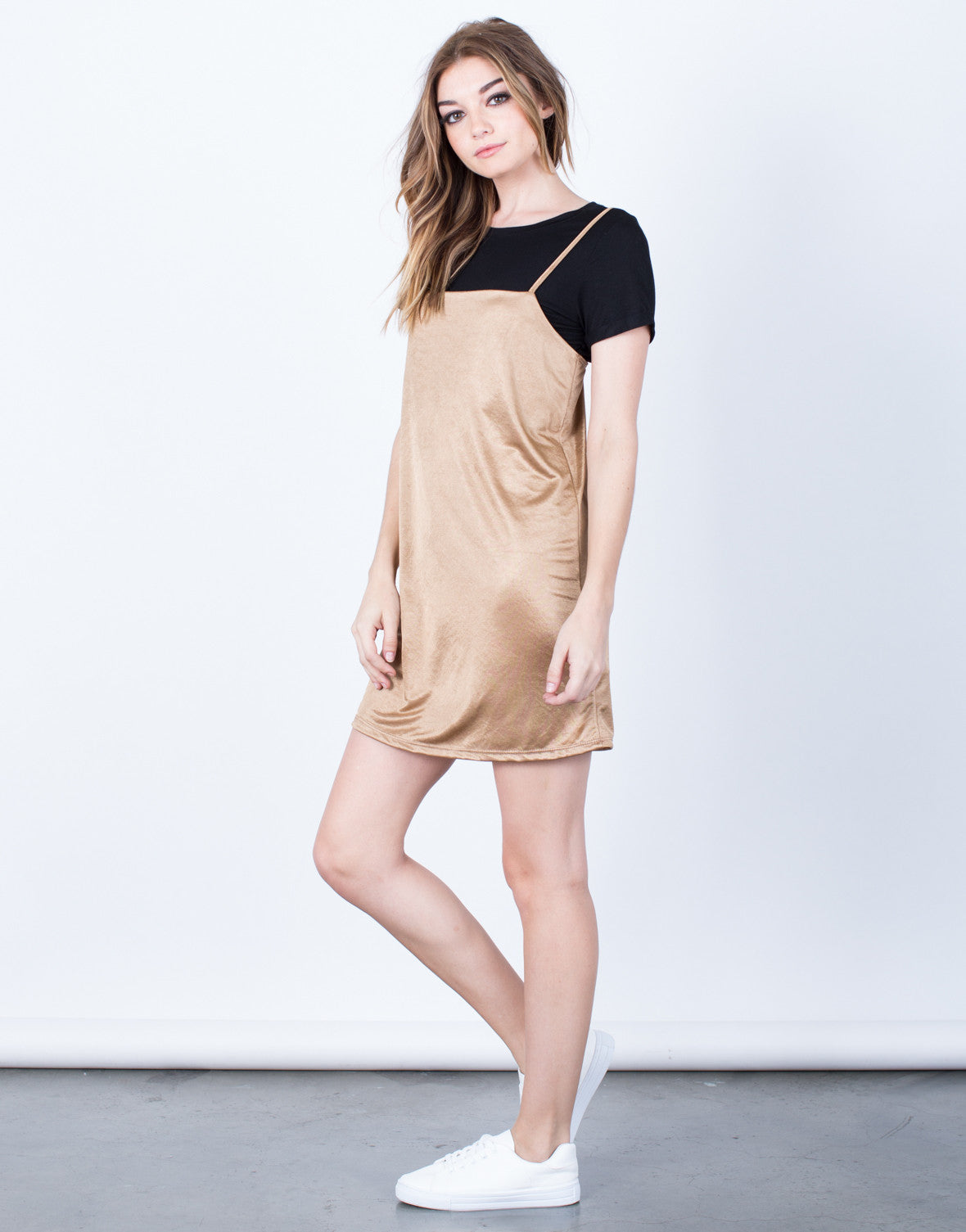 Side View of Classic Clean Slip Dress