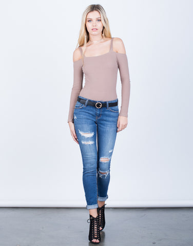 Classic Distressed Skinny Jeans