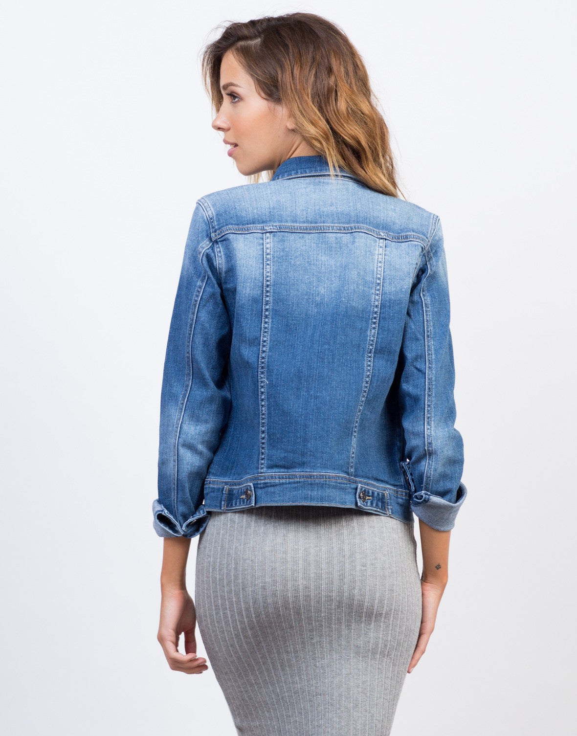 Classic Faded Denim Jacket - Blue Denim Jacket