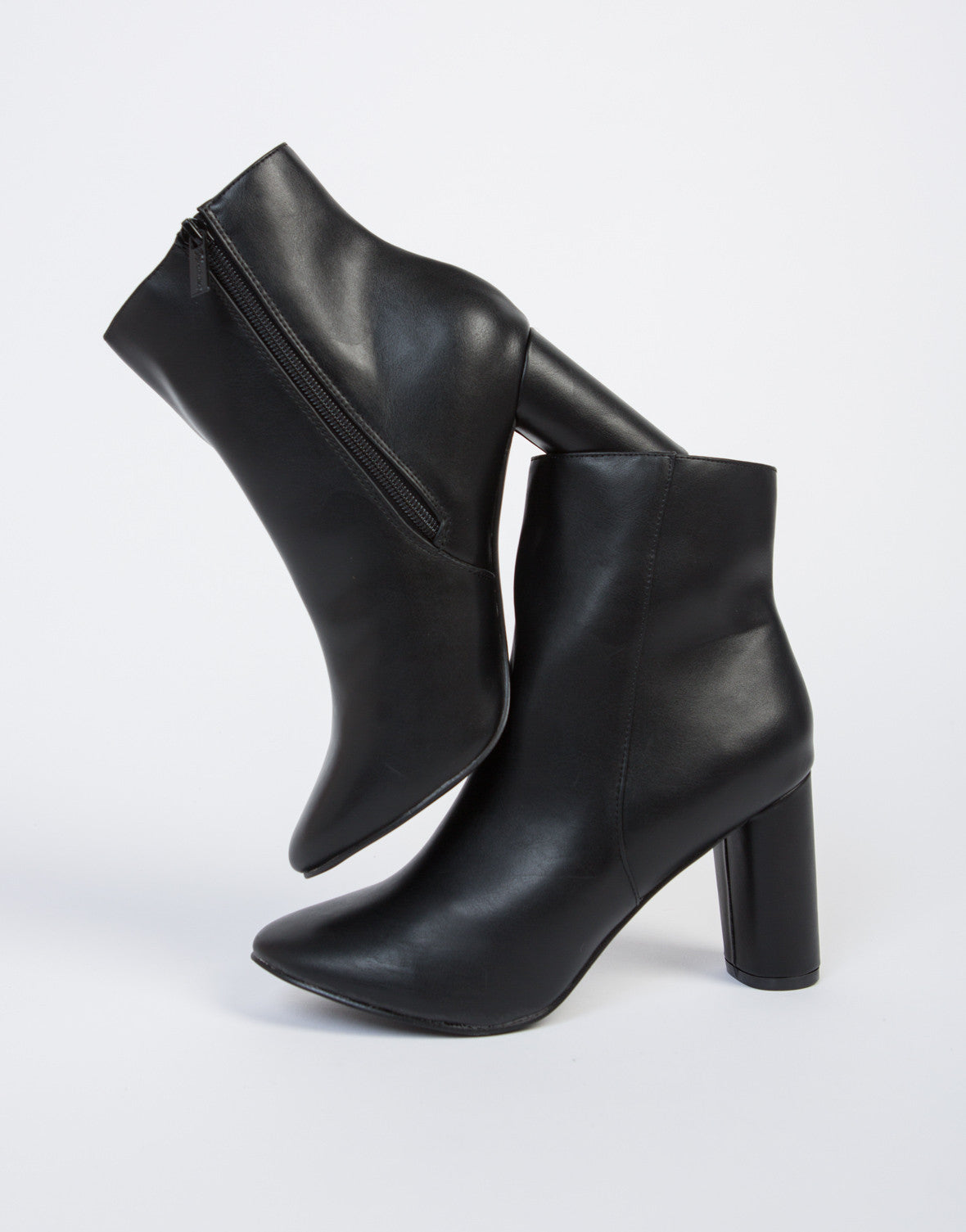 Classic Leather Ankle Booties
