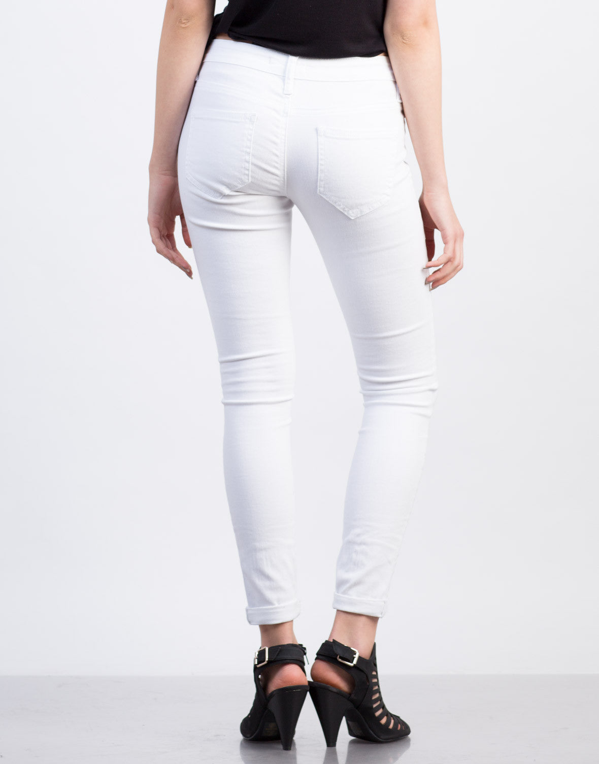Free shipping and returns on Women's White Wash Skinny Jeans at rutor-org.ga