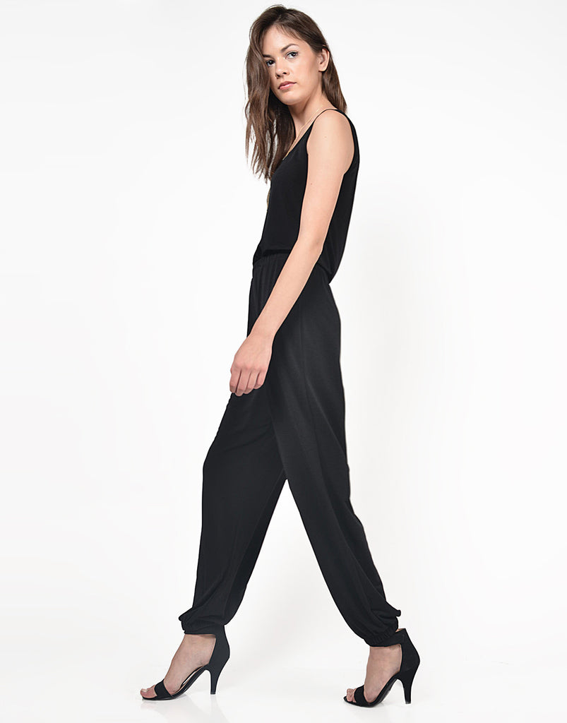 Detail of Classic Black Jumpsuit