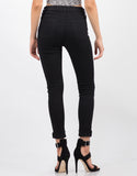 Back View of Classic Black Skinny Jeans