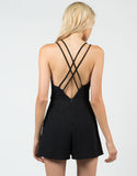 Back View of Classic Little Black Romper