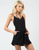 Front View of Classic Little Black Romper