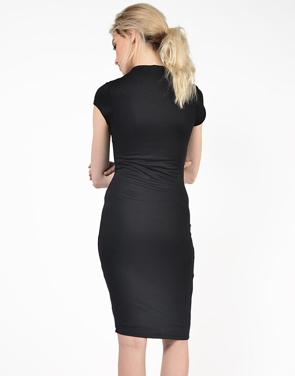 Back View of Classic Midi Dress