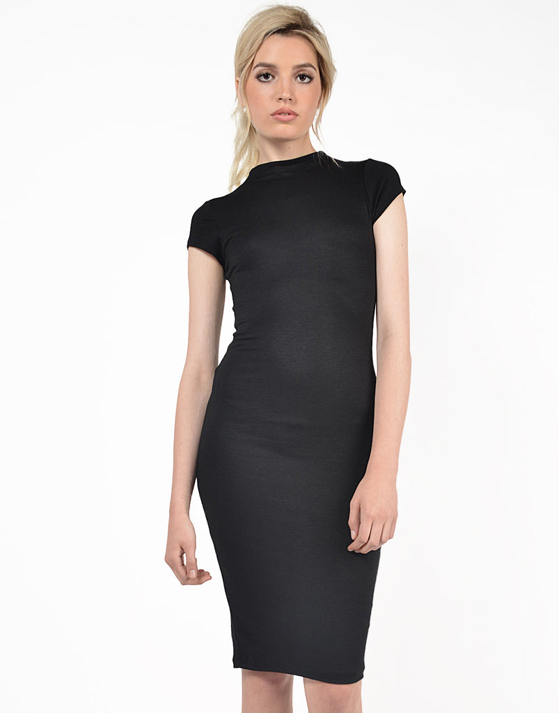 Front View of Classic Midi Dress